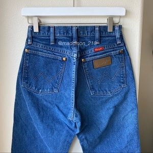 """WRANGLER Vintage High Rise Dark Wash Dad Jeans 25"""""""